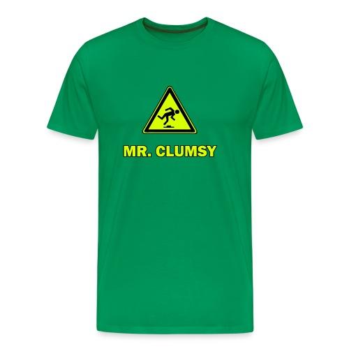 Mr. Clumsy - grün - Männer Premium T-Shirt