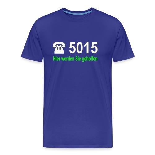 Hier werden Sie geholfen - Männer Premium T-Shirt
