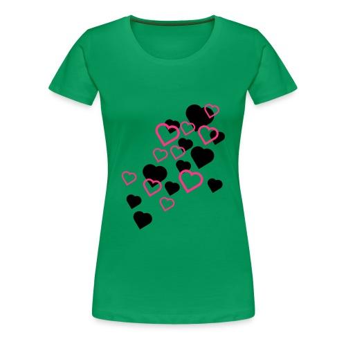 Hjerter Girlieskjorte for damer - Premium T-skjorte for kvinner