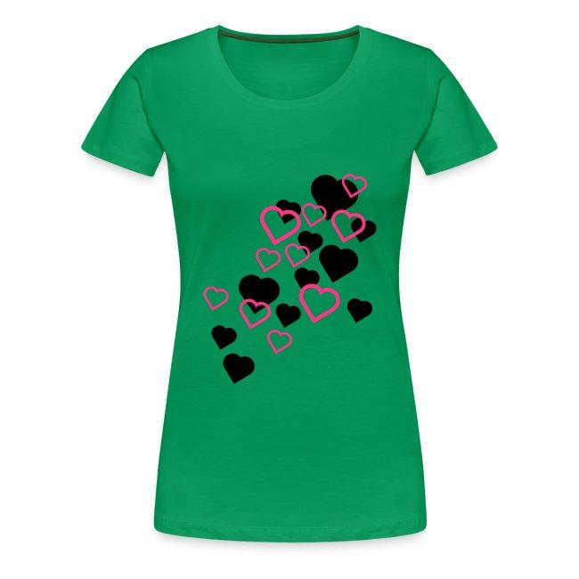 """""""Hjerter"""" Girlieskjorte for damer"""