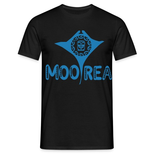 TATTOO MOOREA T-SHIRT TURTLE BLUE - T-shirt Homme