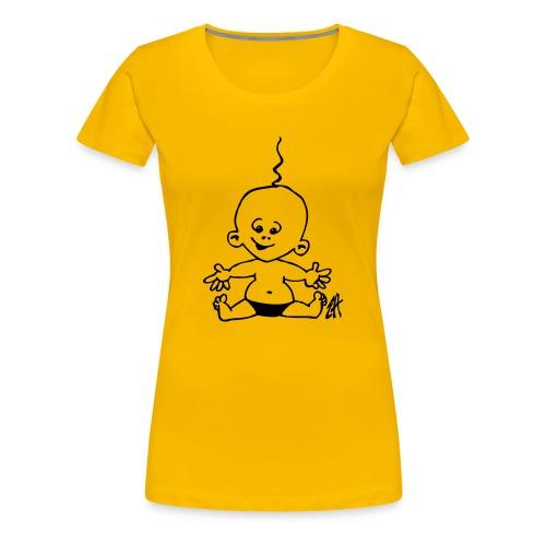 Baby wave- Shirt gelb - Frauen Premium T-Shirt