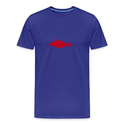 Fisch - hellbleu/rot - Männer Premium T-Shirt