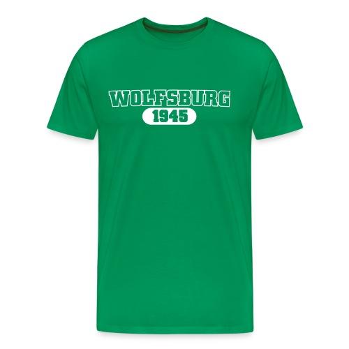 Wolfsburg 1945 Sport, weißer Flexdruck - Männer Premium T-Shirt