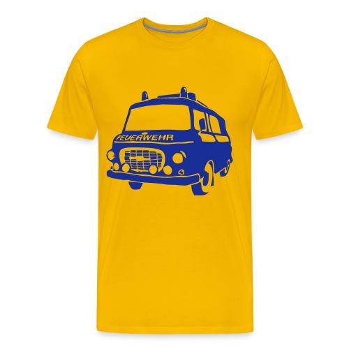BARKAS B1000 KLF GELB/BLAU - Männer Premium T-Shirt