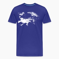 Royal blue Summer Clouds  Men's Tees