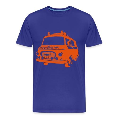 BARKAS B1000 KLF BLAU/ORANGE - Männer Premium T-Shirt