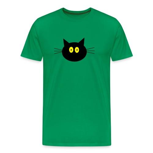 Katze - grün - Männer Premium T-Shirt