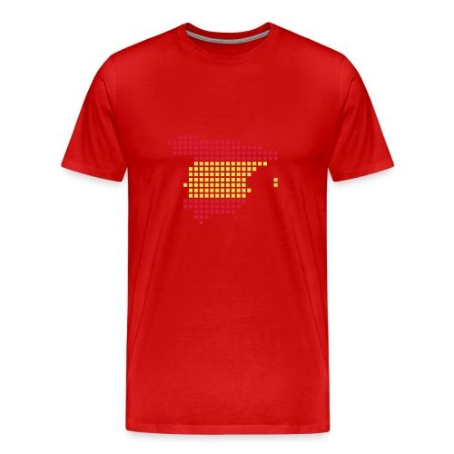 España Mapa pixelado - Camiseta premium hombre