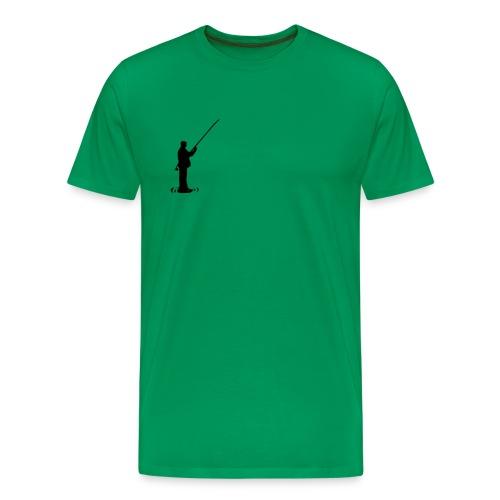 BASIC-T-Shirt, Motiv Angler 2, Brust - Männer Premium T-Shirt