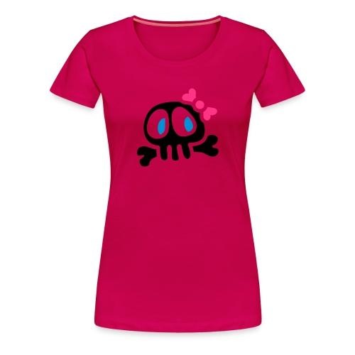 Pääkallopaita - Naisten premium t-paita