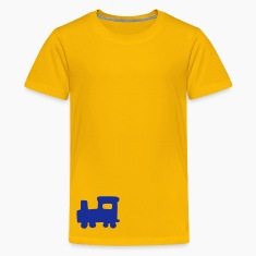 Geel train Kinder shirts