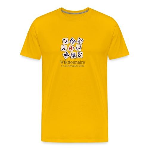 Wiktionnaire torse Couleur - T-shirt Premium Homme