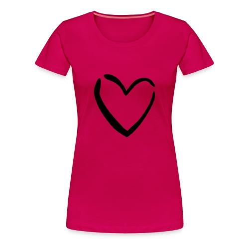 Sydän - Naisten premium t-paita