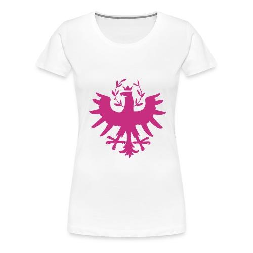 Tiroleradler, Flockdruck Magenta, verschiedene Farben - Frauen Premium T-Shirt