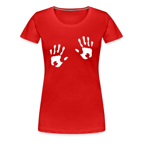 Dłonie. - Koszulka damska Premium