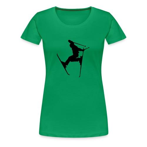 skijumper - Frauen Premium T-Shirt