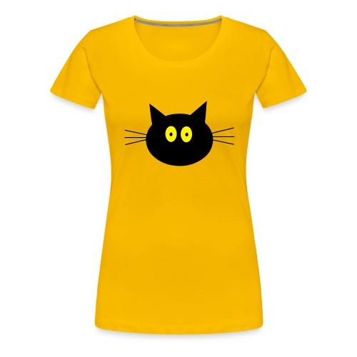 Katze - gelb - Frauen - Frauen Premium T-Shirt