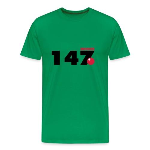 147 Snooker - Männer Premium T-Shirt