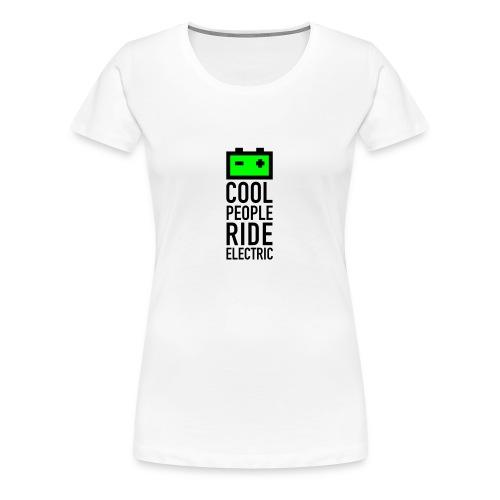 battery T-Shirt Frauen weiss - Frauen Premium T-Shirt