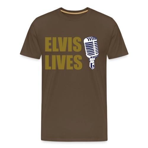 Elvis Lives - Mannen Premium T-shirt