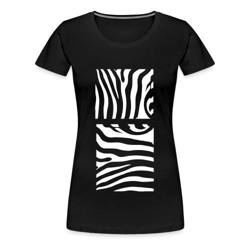 Zebra - Premium-T-shirt dam