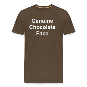 Genuine Chocolate Face - Men's Premium T-Shirt