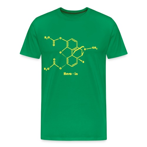 heroin man green-yellow - Men's Premium T-Shirt