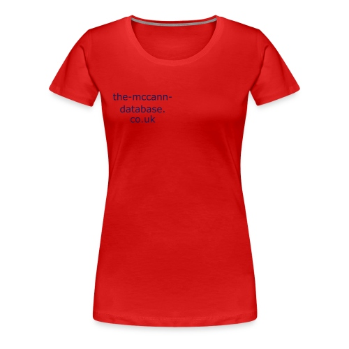 The-McCann-Database.co.uk - Women's Premium T-Shirt