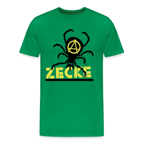 Zecke - grün shirt - Männer Premium T-Shirt
