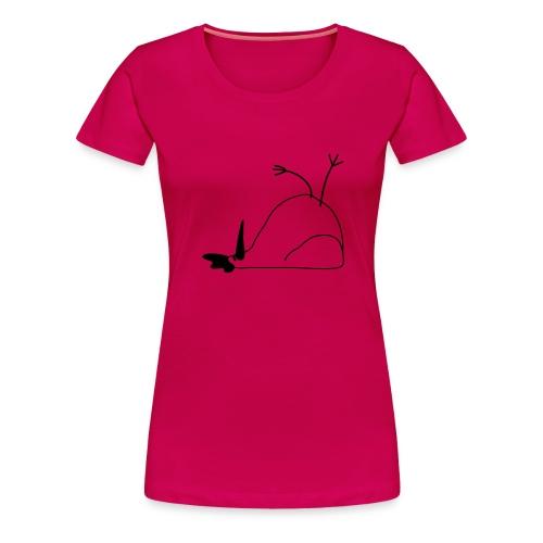 Liegendes Huhn - Frauen Premium T-Shirt