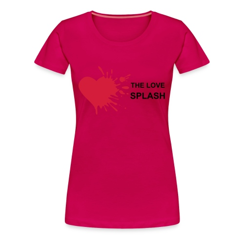 love splash (rose) - T-shirt Premium Femme
