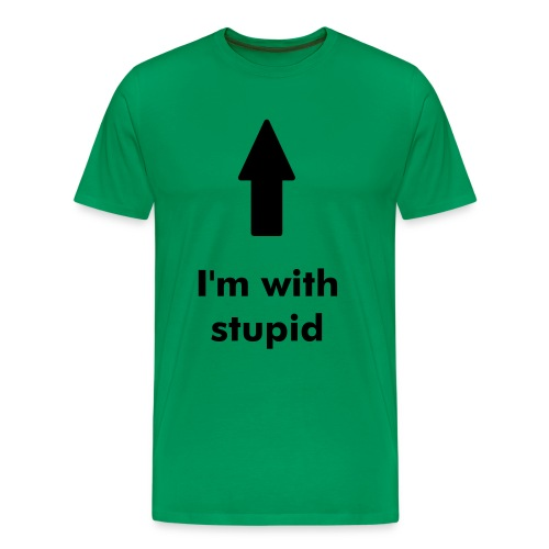 I am stupid - Mannen Premium T-shirt