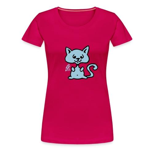 Camiseta lindo gatito. - Camiseta premium mujer