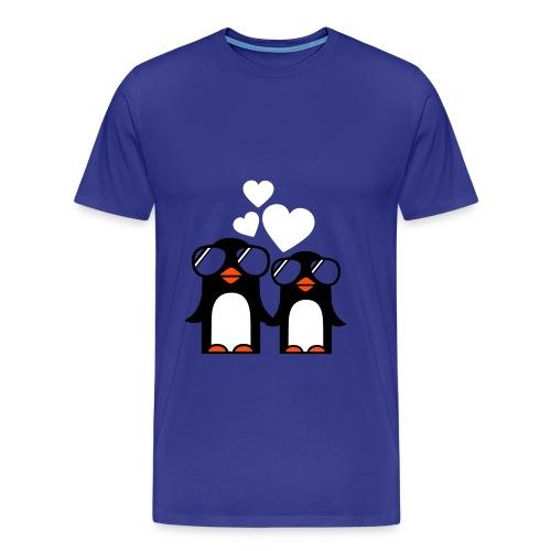 Pingouins amour - T-shirt Premium Homme