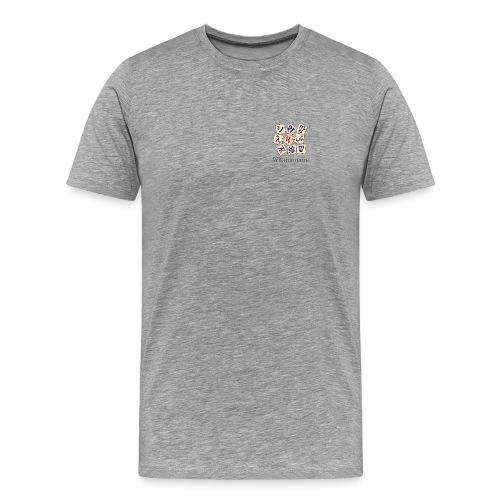 Wiktionnaire poitrine Blanc/Cendre - T-shirt Premium Homme