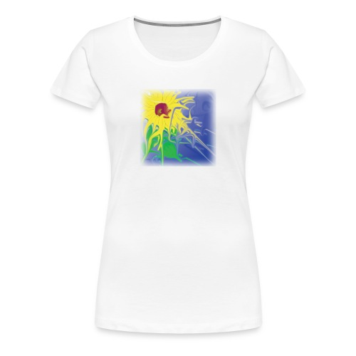 GirlieShirt SunFlower - Frauen Premium T-Shirt