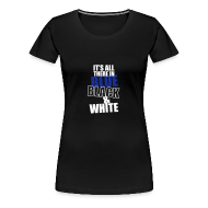 T-Shirts ~ Women's Premium T-Shirt ~ Women's All There Text Round Neck T-Shirt