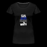 T-Shirts ~ Women's Premium T-Shirt ~ Women's All There Text Round Neck T-Shirt
