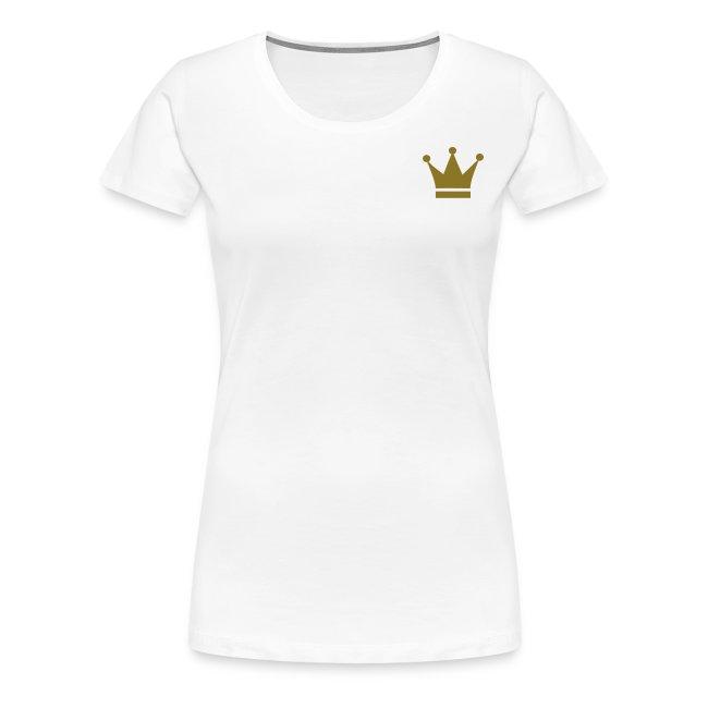 Plain white tee with crown