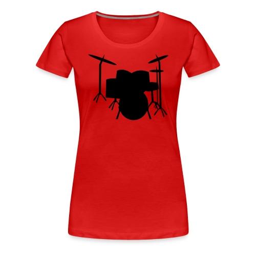 camiseta bateria - Camiseta premium mujer
