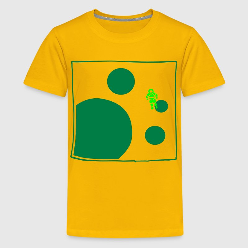 Yellow astronaut Kid's Shirts  - Teenage Premium T-Shirt
