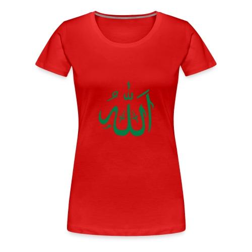 allah   green - T-shirt Premium Femme