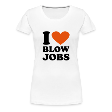 Bianco I love Blowjobs T-shirt