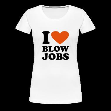 Bianco I love Blowjobs T-shirt