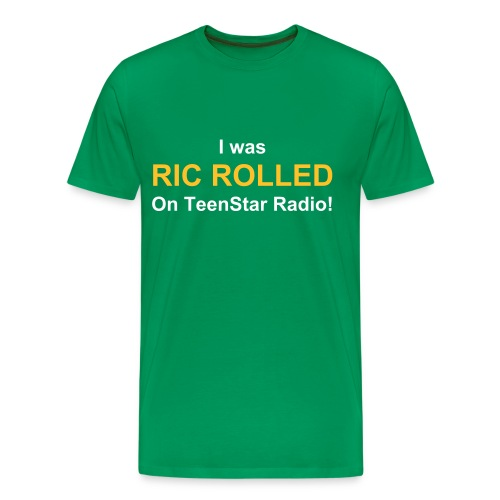 Ric Rolled Male T-Shirt - Men's Premium T-Shirt