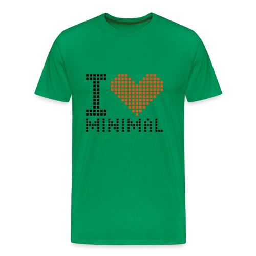 I Love Minimal (MEN) - Camiseta premium hombre