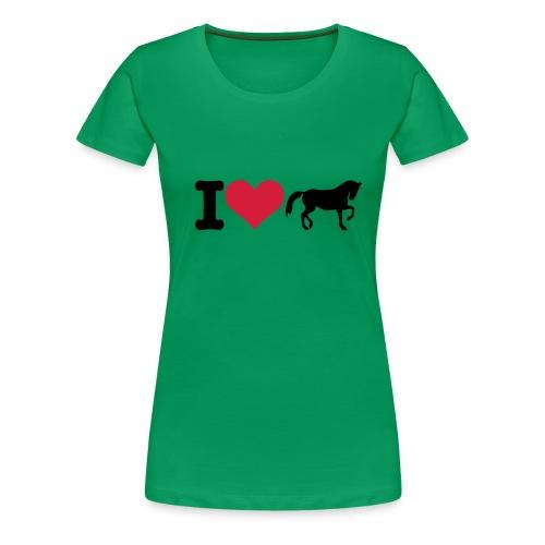 I love horse - Naisten premium t-paita