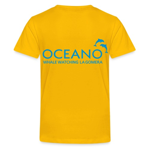 OCEANO Kinder Basic Delfinsprung - Teenager Premium T-Shirt