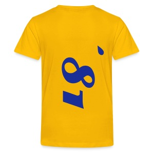 LuciWear Kids T Casual Yellow & Blue - Teenager Premium T-shirt